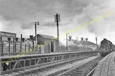 Trecynon Railway Station Photo. Hirwain - Aberdare. Great Western Railway. (1)