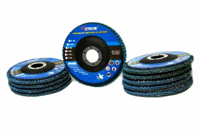 "10 PC 4-1/2"" X 7/8"" 36 GRIT Premium Zirconia Flap Disc Grinding Wheel Sandpaper"