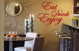 39 eat drink enjoy 39 quote wall decor wall for Ebay dining room wall art