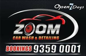ZOOM HAND CAR WASH DETAILING STEAM CLEANING CUT POLISH TRUCK WASH Glenroy Moreland Area Preview