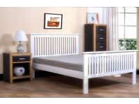 White Wooden Shaker Double Bed - £119.99 ono