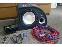 "FLI Trap 12"" Active Subwoofer + HD Xtrons car radio"