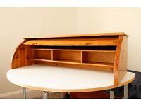 Pine roller desk top