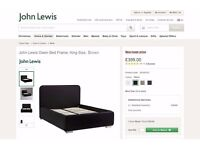 New John Lewis DARK BROWN Owen King Size Bed Frame CAN DELIVER View/Collect Kirkby in Ashfield NG17