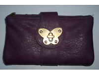 Purple Accessorise purse with butterfly catch