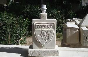 SCUDETTO-TORINO-CALCIO-lampada-abat-jour-lamp-in-pietra-leccese