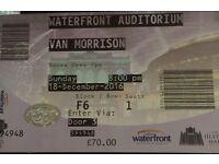 Van Morrison Belfast Concert Tickets. Great seats. Dec 2016.