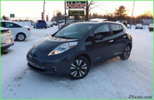 2013 Nissan Leaf SL Premium, Toit ouvrant, GPS + intérieur en cu
