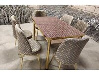 New Design Dining Table With Luxury Chairs Book It Now