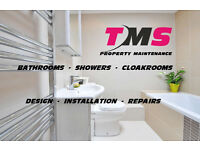 BATHROOMS, SHOWERS & CLOAK ROOMS - supplied : Installed & Repaired