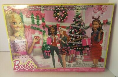 Barbie Advent Calendar, 24 gifts toy fashions accessories, Mattel 2013, BLT25