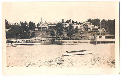 BAYVILLE ME Maine Town View from Bay early 1900's  RPPC