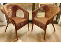 IKEA Rattan Chairs x2