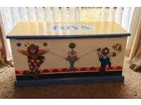 Lovely solid Heather Spencer circus themed toy box