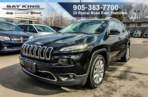 2016 Jeep Cherokee LIMITED, NAVI, TRAILER TOW, HTD LEATHER, BLIN
