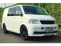**STUNNING** 2005 T5 VW VOLKSWAGEN TRANSPORTER  ONLY 90K T28 85 1.9 TDI  WHITE ABT DAY VAN
