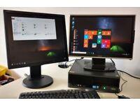 Fujitsu i3 Quad Core Windows 10 PC - SCHOOL OFFICE GAMING **FREE DELIVERY**