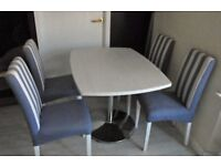 TWO TABLES AND FOUR CHAIRS