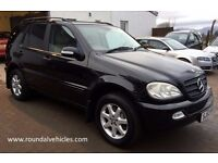 GORGEOUS 2003 MERCEDES ML 350 ML350 AUTO 4X4, Black/Cream leather 130k Sept 2017 mot STUNNING CAR !!