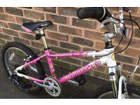 Kids Boys Girls age 6 7 8 9 years Pinnacle MTB Mountain Bike Full Suspension 20inch Wheels