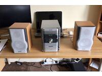 Sharp Hi-Fi Stereo XL-HP888 Audio Shelf System 5 Disc 100W Speaker Cassette Tuner