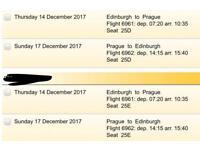 Return flights for TWO People Edinburgh- Prague