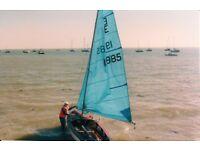 Enterprise Sailing Dinghy. Sail No19985 , GPR Hull/ Wooden Deck