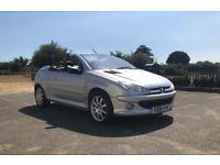 2006 Peugeot 206 CC 1.6 HDi Convertible 56K Cheap Tax Rare Diesel
