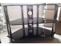Glass and Chrome TV Corner Stand