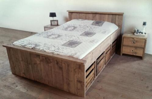 â uitverkoop steigerhout fruitkistjes bed van 493 voor 379