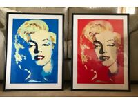 Marilyn Monroe Silk Screen Print, 1985, Signed TWO AVAILABLE