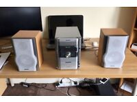 Sharp XL-HP888 Hi-Fi Stereo Audio Shelf System 5 Disc 100W Speaker tuner centre