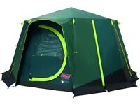 Tent Octagon, 6 Man Festival Dome Tent, 6 Person Family Camping Tent with 360° Panoramic View
