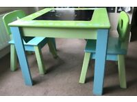 Kids wooden table and chairs - £30