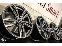 "BRAND NEW 19"" BMW M6 STYLE ALLOY WHEELS - 5 X 120 -FERRIT GREY WITH DIAMOND CUT FINISH - Wheel Smart"