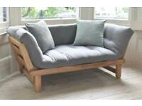 Solid Pine Twingle day bed/armchair/sofa, mint condition, Futon company - SAME DAY DELIVERY