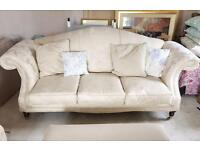 High quality cream sofa with floral design - Laura Ashley style