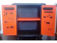 Black and Decker tools storage cabinet on wheels