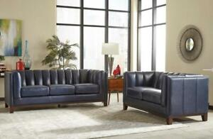 WAS $5,000 WHOLESALE now JUST $3,000 - Severino Loveseat and Sofa collection in Blue. IN STOCK  available at dex10