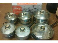 Pots and pans cookware set brand new