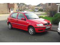 Red 2002 VW Polo 1.0E 5 Door with 12 Months MOT