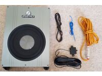 """Bassface 8"""" 800w Underseat Car Subwoofer with Amp"""