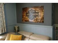 Harley davidson . Wall/garage sign