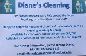 Diane's cleaning/home help