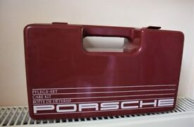 Vintage Genuine Porsche Car Care Kit (Burgundy Case)