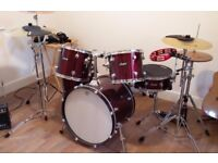 Leedy Drum Kit including extended range of cymbals range and extras