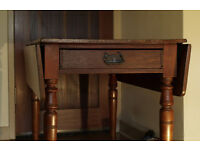 Victorian pembroke table circa 1860 (free delivery in midlothian) vintage / antique