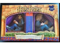 Harry and Hermione Bookends - *** Brand New in Box *** (includes Goblet of Fire Book)