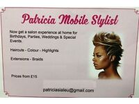 Patricia Mobile Stylist, we offer a green finger high quality hairdressing services