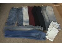 Jeans, cropped, skinny and bootcut all size 10 all £4 a pair Barncoose